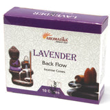 Aromatica Natural Backflow Incense Cones - Lavender-Incense-Serenity Gifts