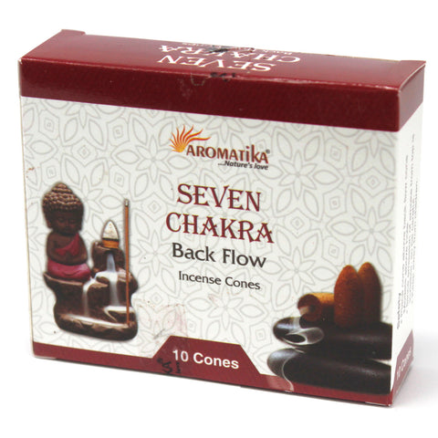Aromatika Natural Backflow Incense Cones - Seven Chakra-Incense-Serenity Gifts
