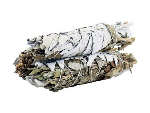 10cm White Sage & Black Sage Purifying Smudge Stick-Smudge Stick-Serenity Gifts
