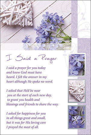 Religious I Said A Prayer Greeting Card - Modern-Greeting Card-Serenity Gifts