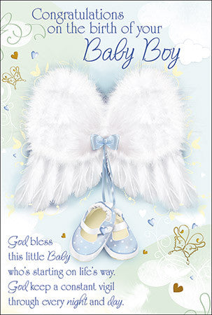 Greeting Card Baby - Congratulations Baby Boy-Baptism & Christening-Serenity Gifts
