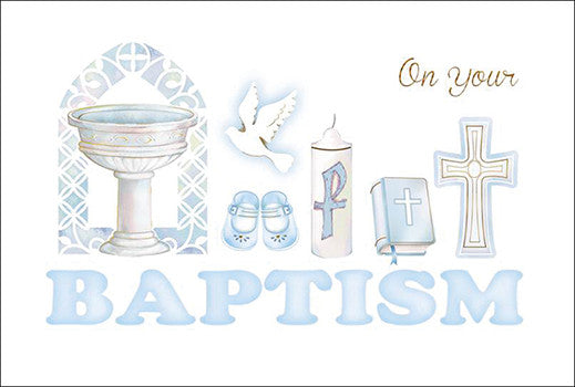 Greeting Card Baptism - Boy-Baptism & Christening-Serenity Gifts