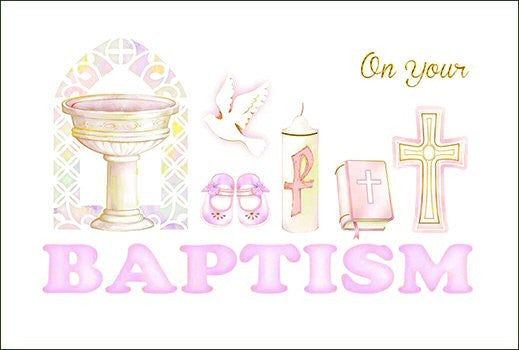 Greeting Card Baptism - Girl-Baptism & Christening-Serenity Gifts