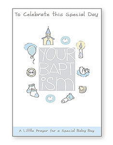 Greeting Card Baptism Prayer - Boy-Baptism & Christening-Serenity Gifts