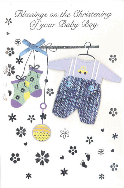 Greeting Card Christening - Baby Clothes Boy-Baptism & Christening-Serenity Gifts