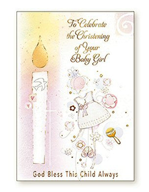 Greeting Card Christening - Candle Girl-Baptism & Christening-Serenity Gifts