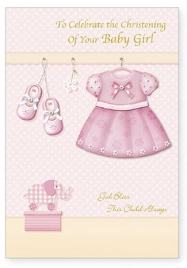 Greeting Card Christening - 3D Handcrafted Baby Girl-Baptism & Christening-Serenity Gifts