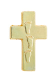 Carded Lapel Pin - Footprints Cross-Bookmark-Serenity Gifts