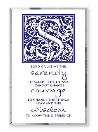 Glass Mirror Plaque - Serenity Prayer Verse-Plaque-Serenity Gifts