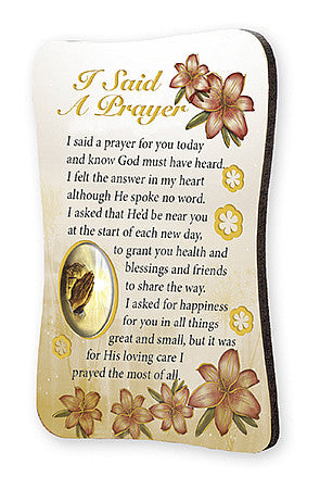 Fridge Magnet Wooden - I Said A Prayer-Magnet-Serenity Gifts
