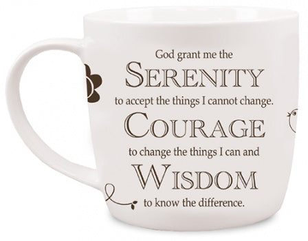 Serenity Prayer Mug - Brown-Mug-Serenity Gifts