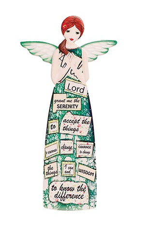 Serenity Prayer Porcelain Message Angel-Figurine-Serenity Gifts