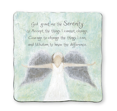 Angel Serenity Prayer - Art Metal Plaque-Plaque-Serenity Gifts