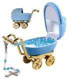 Baby's First Rosary Beads in Pram Case - Blue-Baptism & Christening-Serenity Gifts