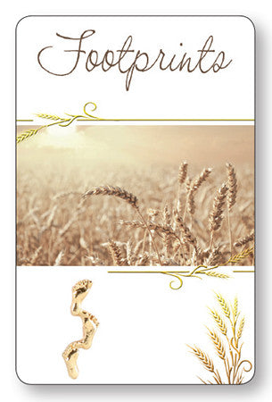 Prayer Card - Footprints - Wheat Field - Serenity Gifts