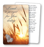 Prayer Card - I Said a Prayer For You - Sunset-Prayer Card-Serenity Gifts