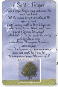 Prayer Card - I Said a Prayer For You Today-Prayer Card-Serenity Gifts