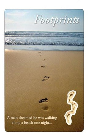 Prayer Card - Footprints-Prayer Card-Serenity Gifts