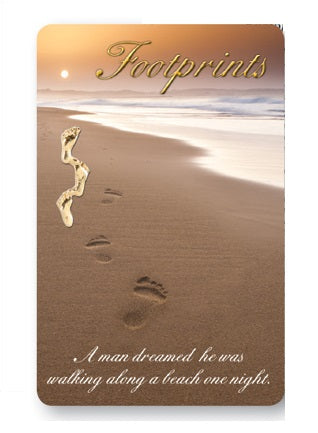 Prayer Card - Footprints Verse-Prayer Card-Serenity Gifts