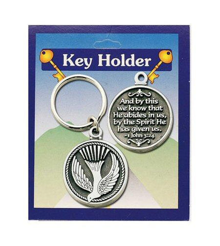 Confirmation Key Ring - Dove / Spirit-Confirmation Gift-Serenity Gifts