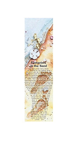 Carded Lapel Pin - Footprints Verse-Bookmark-Serenity Gifts
