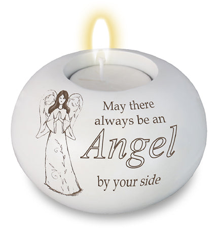 Resin Candle Holder - Angel By Your Side-Tea Light Holder-Serenity Gifts