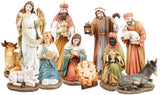 "Traditional Nativity Figurines Hand Painted - Large 10"" Resin-Nativity-Serenity Gifts"