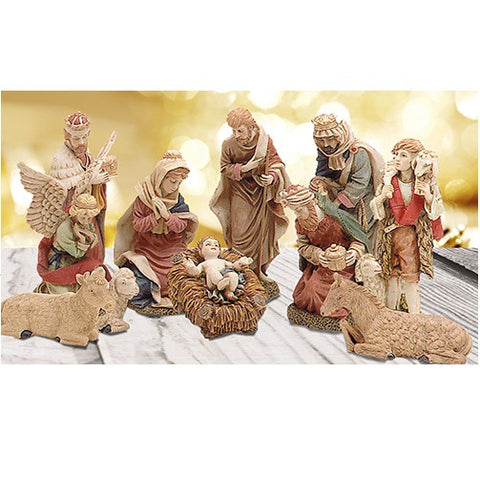 "Nativity Figurines Hand Carved - Large 12"" Resin-Nativity-Serenity Gifts"