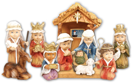 "Childrens Nativity Set - Resin 3"" Figures-Nativity-Serenity Gifts"