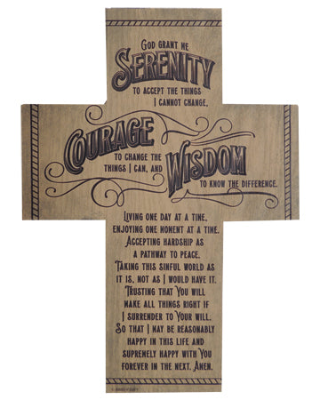 Serenity Verse Wooden Cross-Cross-Serenity Gifts