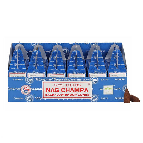 Satya Backflow Dhoop Cones - Nag Champa-Incense-Serenity Gifts