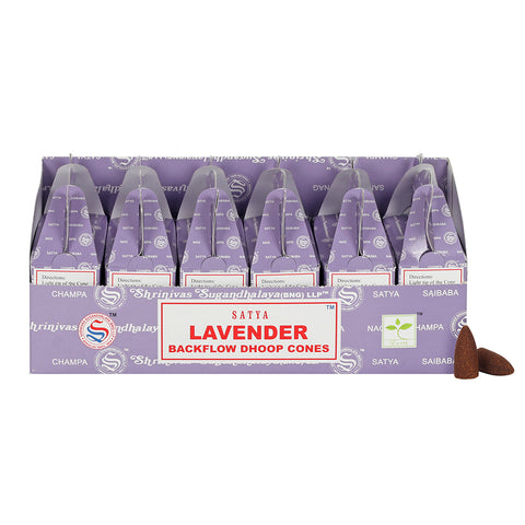 Satya Backflow Dhoop Cones - Lavender-Incense-Serenity Gifts