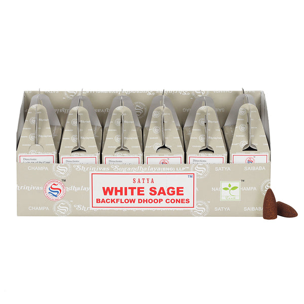 Satya Backflow Dhoop Cones - White Sage-Incense-Serenity Gifts