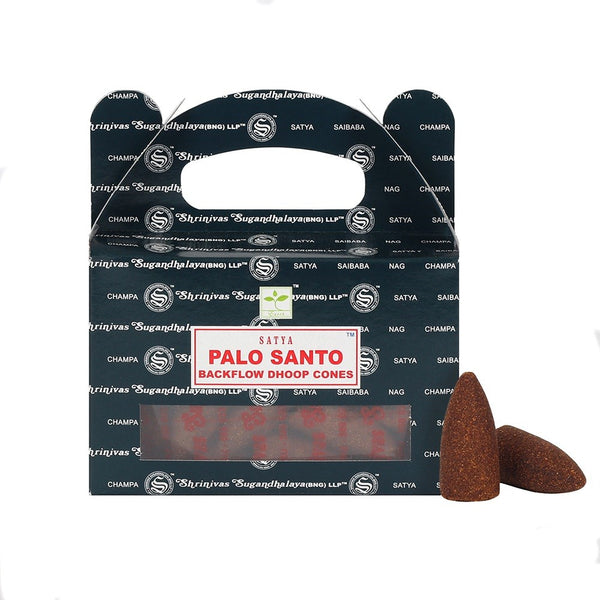 One Pack of Satya Backflow Incense Cones - Palo Santo-Incense-Serenity Gifts