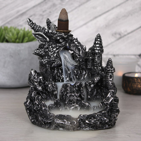 Silver Dragon with Light Backflow Incense Burner-Incense-Serenity Gifts