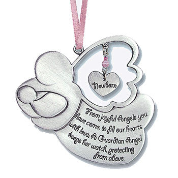 Angel Crib Medal - Girl-Baptism & Christening-Serenity Gifts