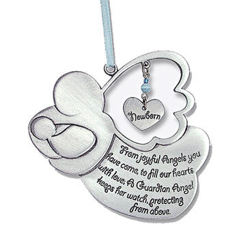 Angel Crib Medal - Boy-Baptism & Christening-Serenity Gifts