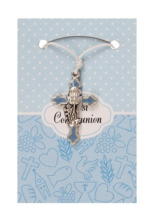 First Holy Communion Pendant - Blue/Pink/White-Holy Communion-Serenity Gifts