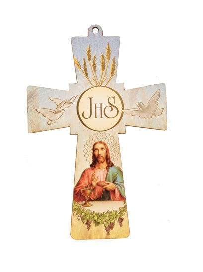 First Communion Wood Cross - Pocket Size-Cross-Serenity Gifts
