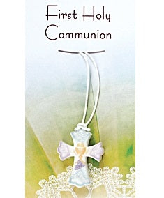 First Holy Communion Pendant- Resin Cross-Rosary Beads-Serenity Gifts
