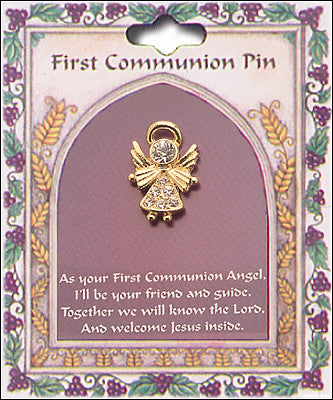 First Holy Communion Pin - Angel-Holy Communion-Serenity Gifts