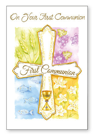 Greeting Card Communion - On Your First Communion-Communion Greeting Card-Serenity Gifts