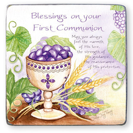 First Communion Blessings - Metal Plaque-Cross-Serenity Gifts