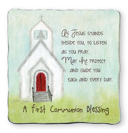 First Communion Blessings - Metal Plaque - Church-Cross-Serenity Gifts
