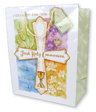 First Holy Communion Gift Bag - Cross Design-Holy Communion-Serenity Gifts