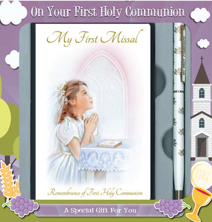 Communion Girl Gift Set - Missal Book and Pen-Holy Communion-Serenity Gifts