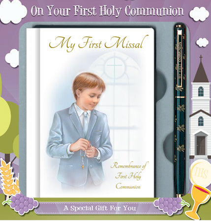 Communion Boy Gift Set - Missal Book and Pen-Holy Communion-Serenity Gifts