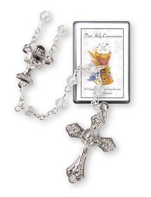 First Holy Communion Rosary - Clear Crystal-Rosary Beads-Serenity Gifts