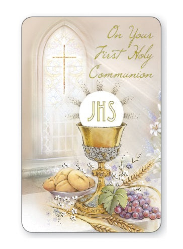 First Holy Communion Prayer Card - Chalice-Prayer Card-Serenity Gifts