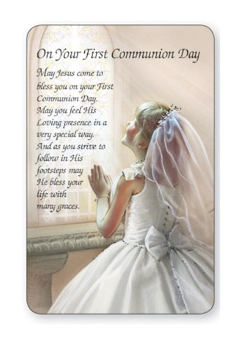 First Holy Communion Prayer Card - Girl-Prayer Card-Serenity Gifts